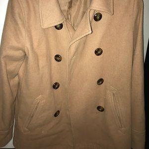 Women's beige pea coat